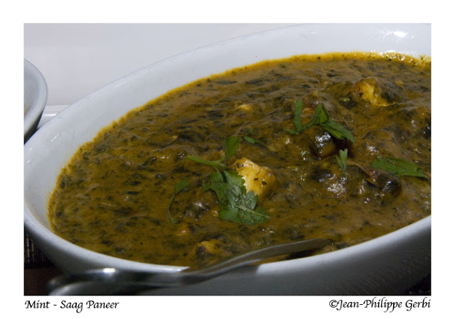 Image of Saag Paneer at Mint Indian restaurant in NYC, New York