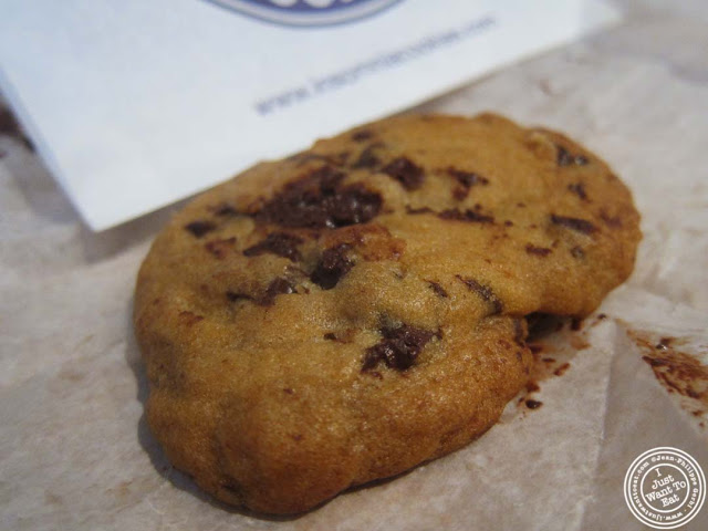 image of chocolate chunk cookie at Insomnia cookies on the Upper West Side, NYC, New York