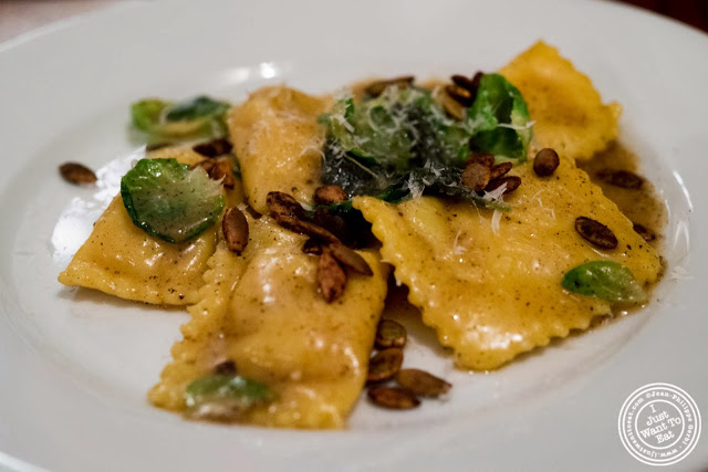 image of Butternut squash agnolotti at Hunter's in Brooklyn, New York