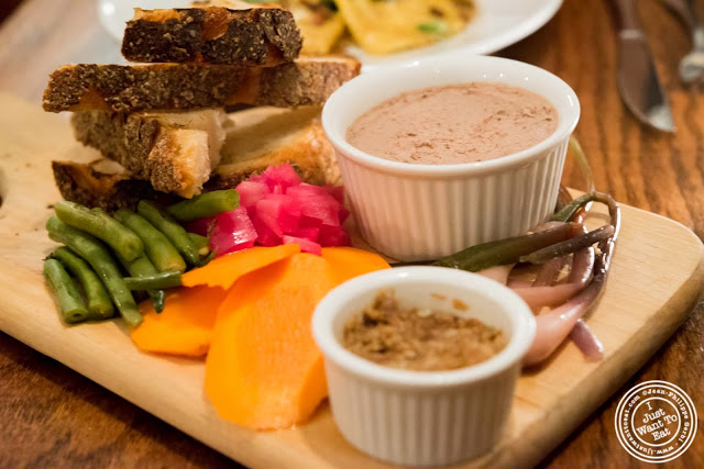 image of Chicken liver and bacon mousse at Hunter's in Brooklyn, New York