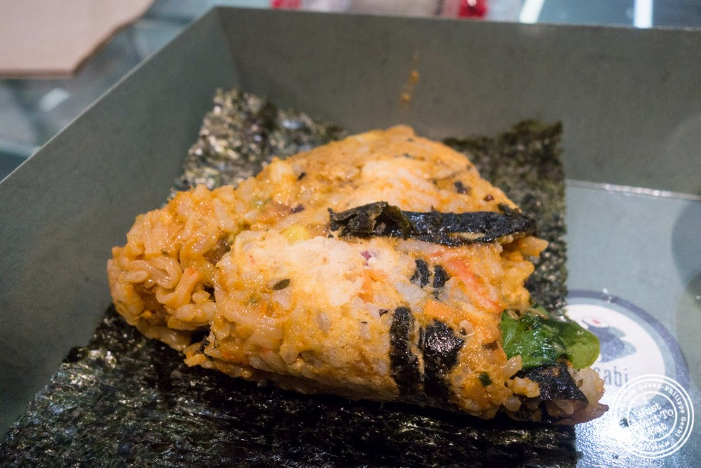 image of chicken teriyaki onigiri at Wasabi Sushi and Bento, Times Square, NYC, NY