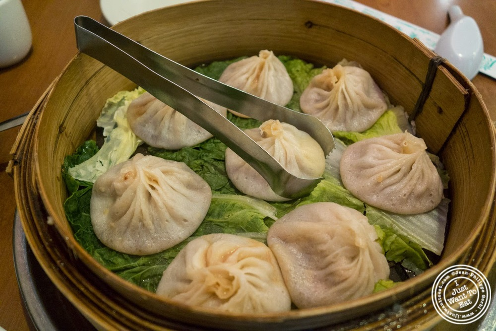 image of pork soup dumplings at Joe's Shanghai in New York, NY