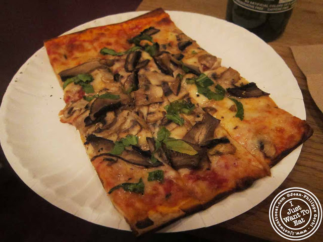 Image of Mushroom pizza at Pie By The Pound in NYC, New York