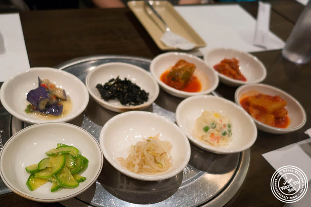 image of banchan at Don's Bogam in Murray Hill, NYC, New York