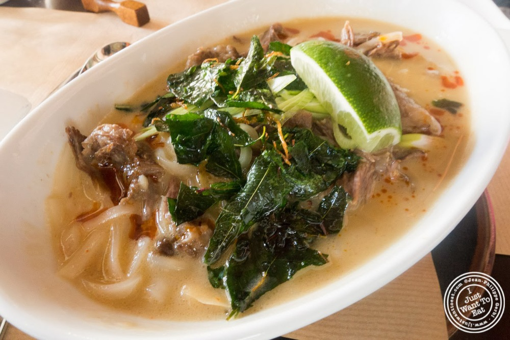 image of Thai beef noodle soup at Spice Market in the Meatpacking District, NYC, New York