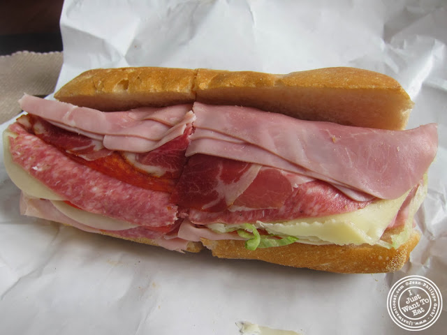 image of Italian sub at M&P Biancamano in Hoboken, NJ