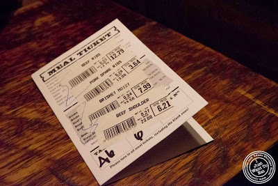 image of Meal ticket at Hill Country in NYC, New York