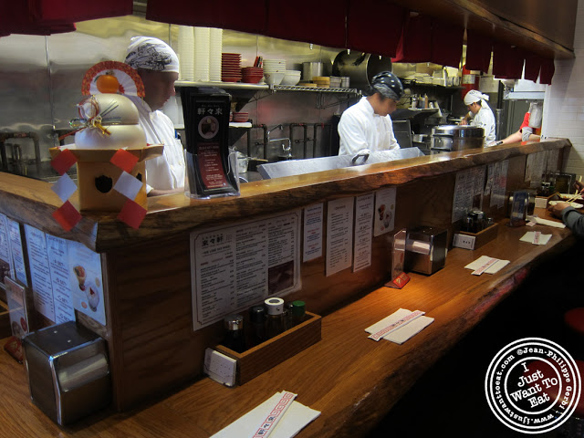 Image of the Bar and Kitchen at Rai Rai Ken ramen in NYC, New York