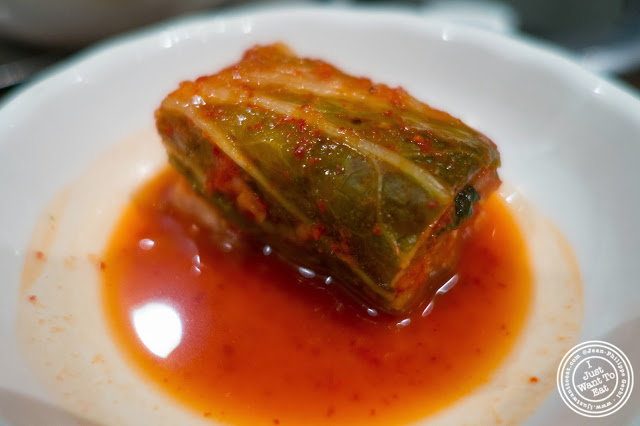 image of kimchi cabbage at Don's Bogam in Murray Hill, NYC, New York