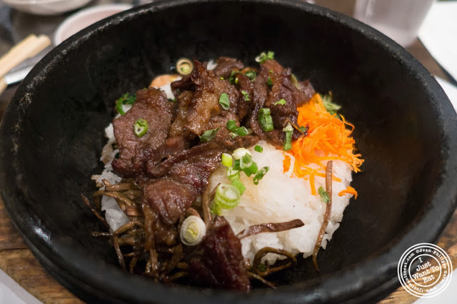 image of Galbi bibimbap at Don's Bogam in Murray Hill, NYC, New York