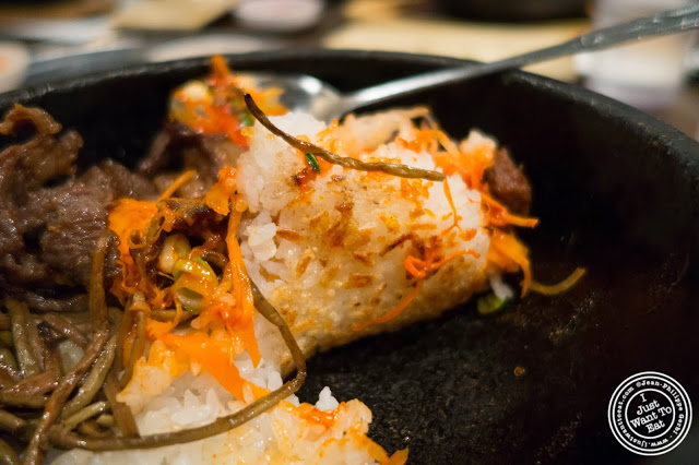image of rice crust from bibimbap at Don's Bogam in Murray Hill, NYC, New York