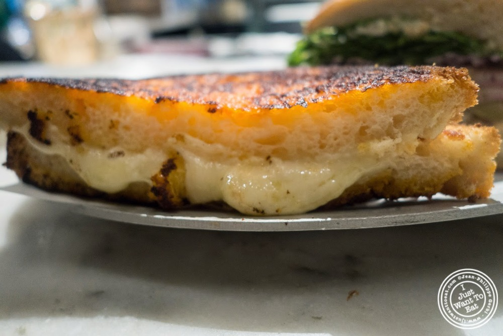 image of grilled cheese sandwich at Court Street Grocers at The Gotham West Market