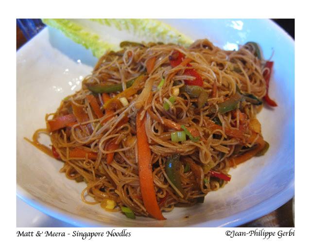 Singapore Noodles at Matt and Meera in Hoboken, New Jersey NJ