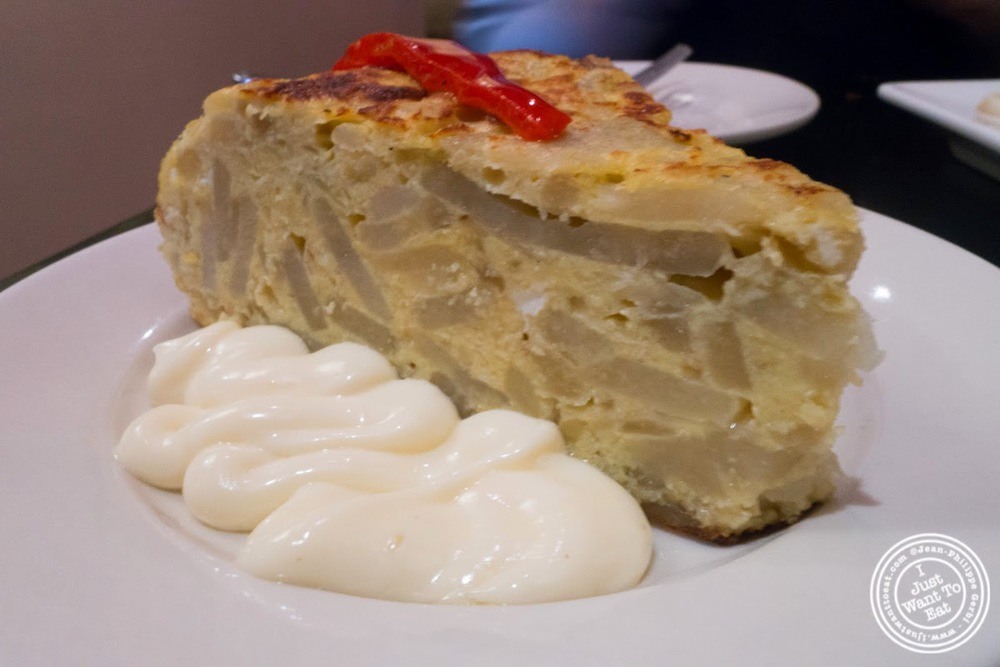 image of tortilla española or Spanish omelet at Tia Pol in Chelsea, NYC, NY