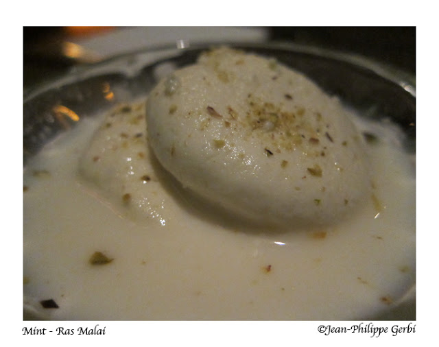 Image of Ras Malai at Mint Indian restaurant in NYC, New York
