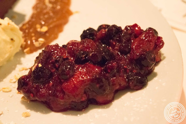 image of berry compote at Incognito Bistro in NYC, New York