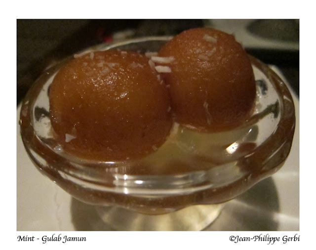 Image of Gulab Jamun at Mint Indian restaurant in NYC, New York