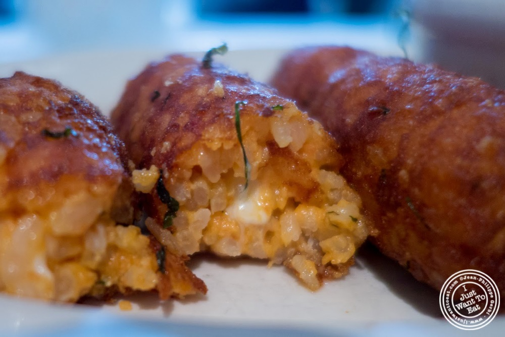 image of risotto croquettes at Maialino in NYC, New York