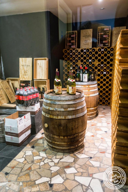 image of wine cellar at Les Jardins de Sainte-Cécile in Grenoble, France