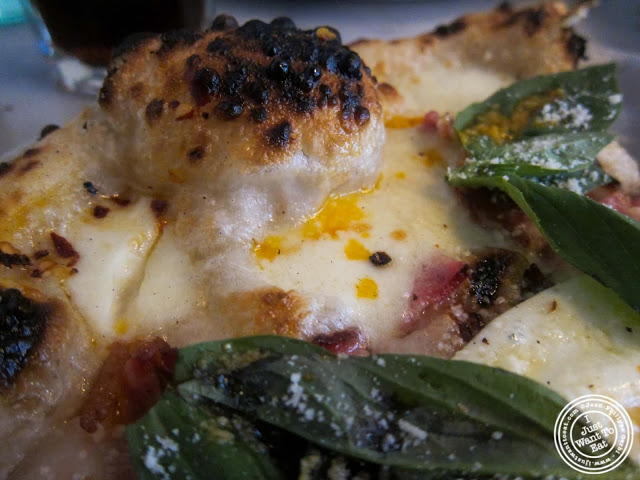 image of Brunch pizza at Motorino pizza in the East Village, NYC, New York
