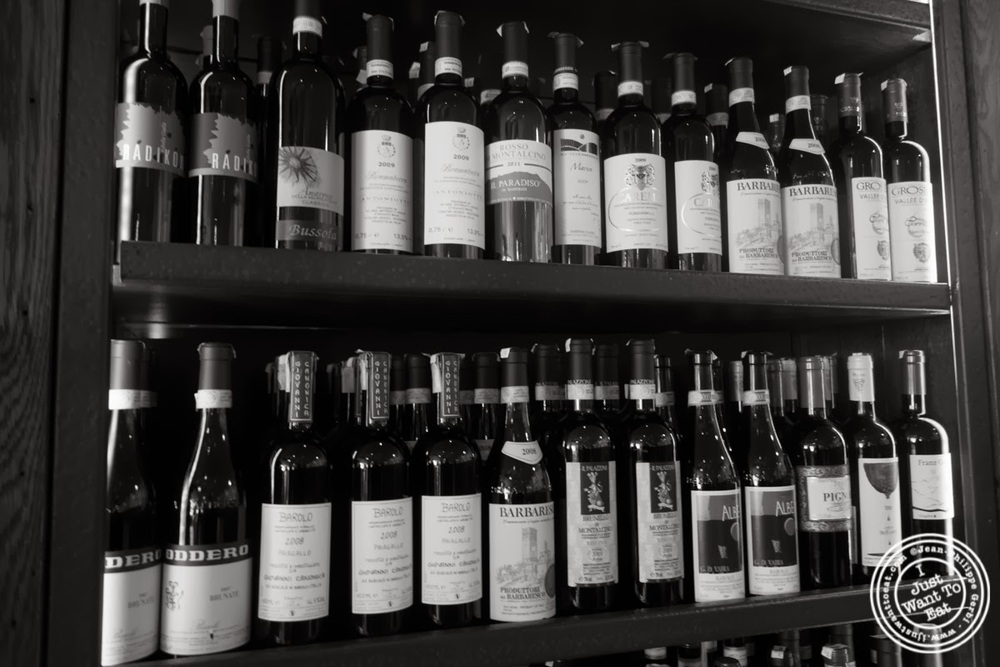 image of bottles of wine at Maialino in NYC, New York