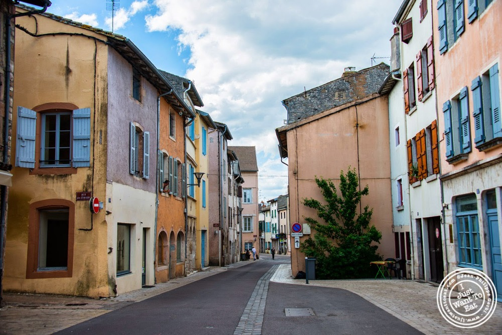 image of  street of Tournus, France
