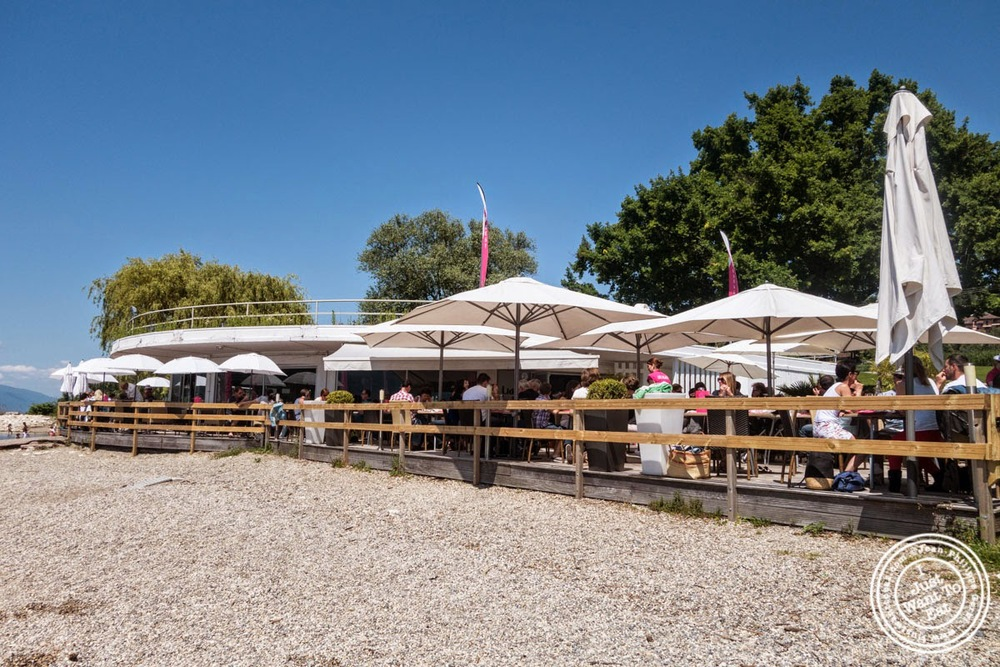 image of terrace at Le Lido Plage in Aix-Les-Bains, France
