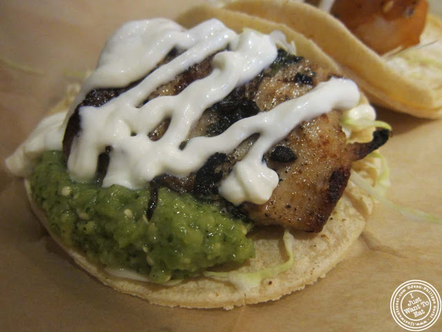 image of fish taco at Dorado, Tacos and Quesadillas in NYC, New York