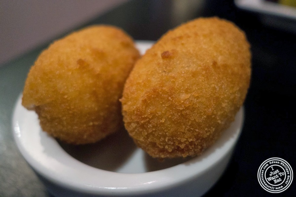 image of croquetas de jamón or ham croquettes at Tia Pol in Chelsea, NYC, NY