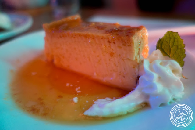 image of flan at El Maguey Y La Tuna on the Lower East Side, NYC, New York