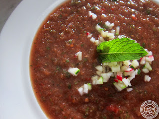 image of gazpacho at Mezzaluna in Soho, New York City, NY