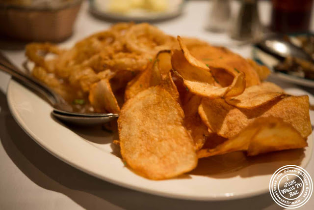 Image of Onion rings and cottage fries at Empire Steakhouse in NYC, New York