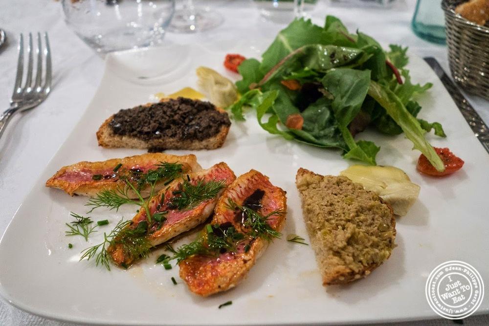 image of filets de rougets at Le Chaudron in Tournon, France