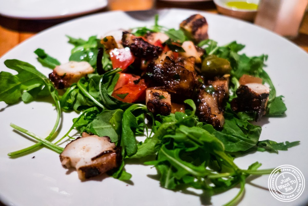 image of grilled marinated Spanish octopus at Da Marcella Taverna in Greenwich Village, NYC, New York