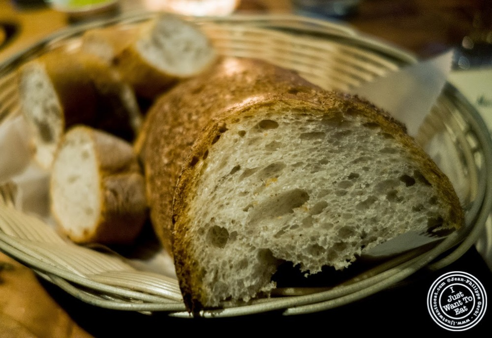 image of bread at Da Marcella Taverna in Greenwich Village, NYC, New York