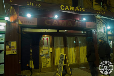 image of Dark Dining Projects - blindfolded dinner at Camaje bistro in Greenwich Village, NYC, New York