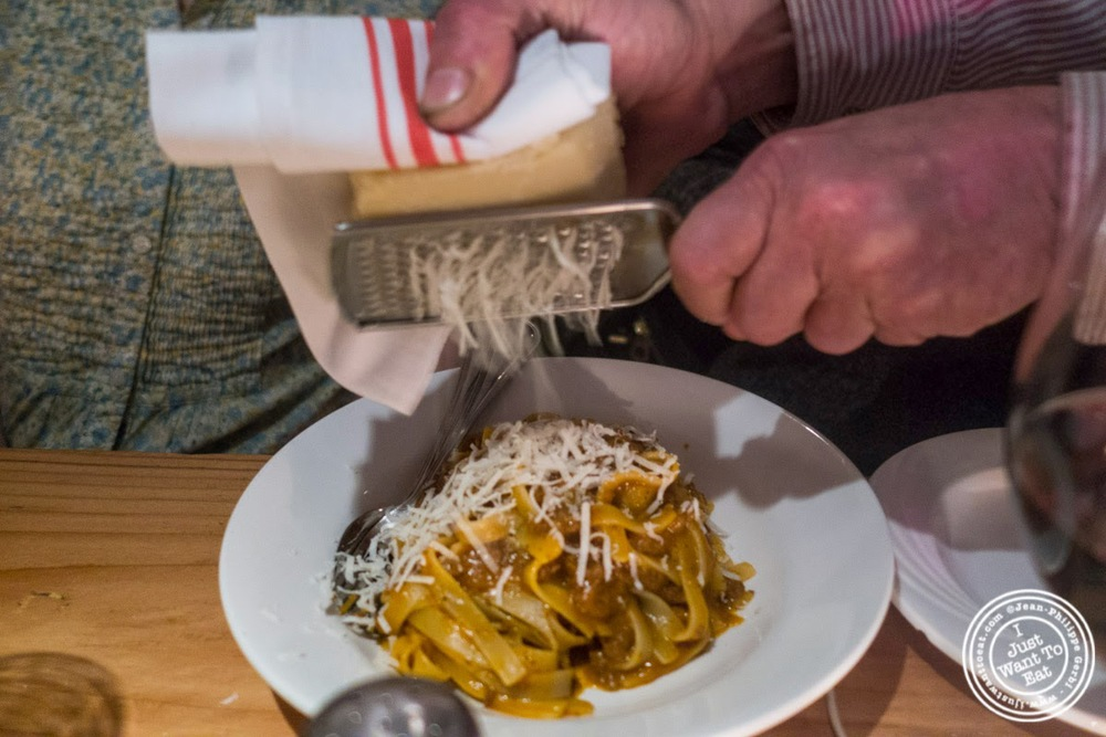 "image of tagliatelle artigianali ""Setaro"" Al ragu'Bolognese at Da Marcella Taverna in Greenwich Village, NYC, New York"