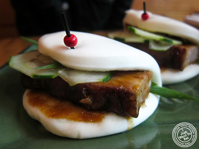 image of pork buns at Umami Shoppu in the West Village, NYC, New York