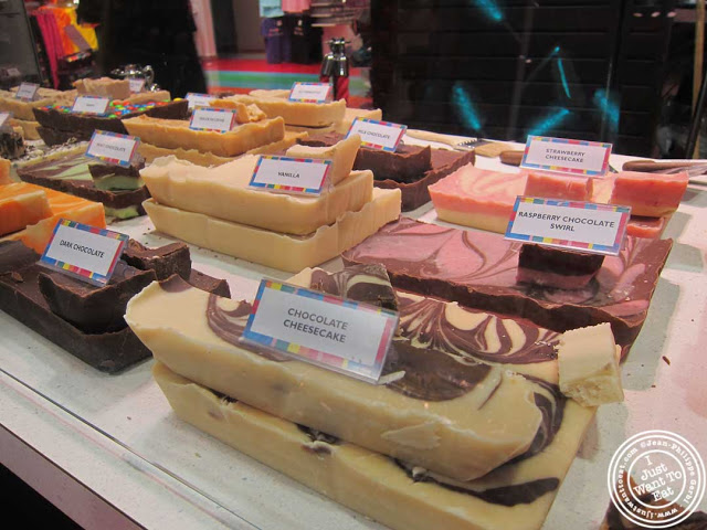 Chocolate fudge at Dylan's Candy Bar in NYC, New York