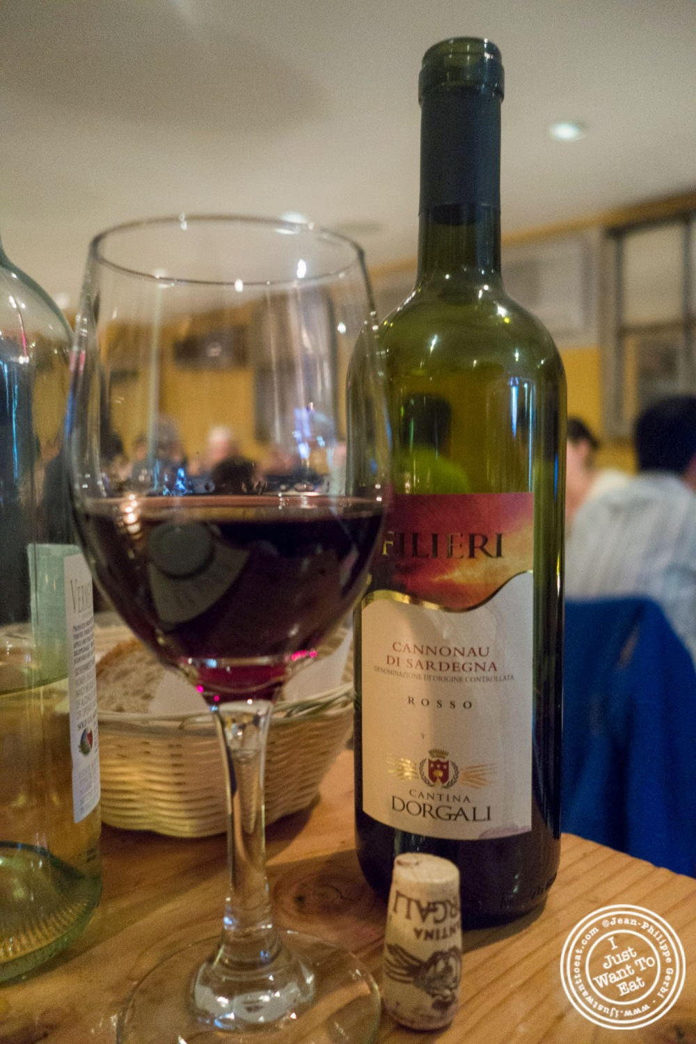 "image of Cannonau di Sardegna 2011 ""Filieri"" - Cantina Dorgali at Da Marcella Taverna in Greenwich Village, NYC, New York"