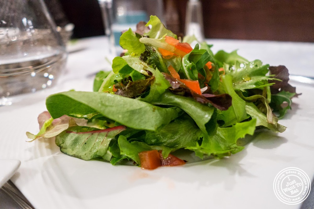image of small salad at Le Chaudron in Tournon, France