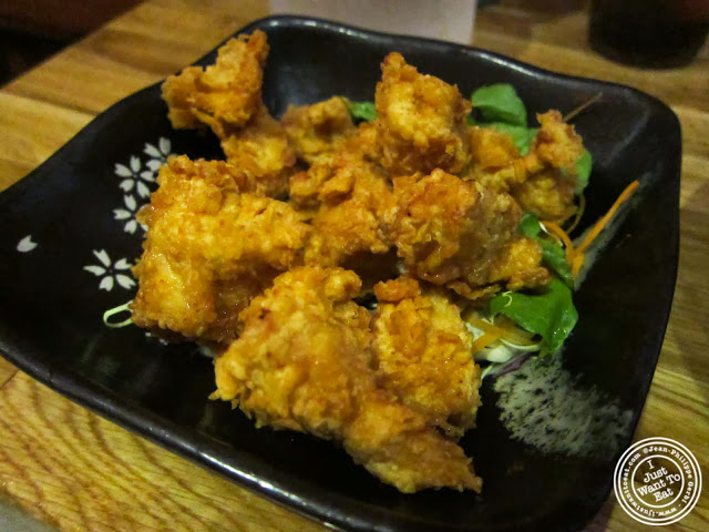 image of Fried chicken ramen at Umami Shoppu in the West Village, NYC, New York