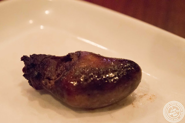 image of duck hearts and dumplings at Tom Colicchio Craftbar in NYC, New York