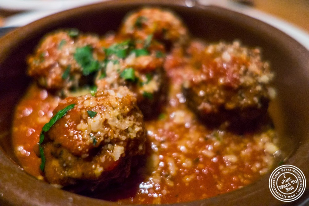 image of meatballs at Da Marcella Taverna in Greenwich Village, NYC, New York