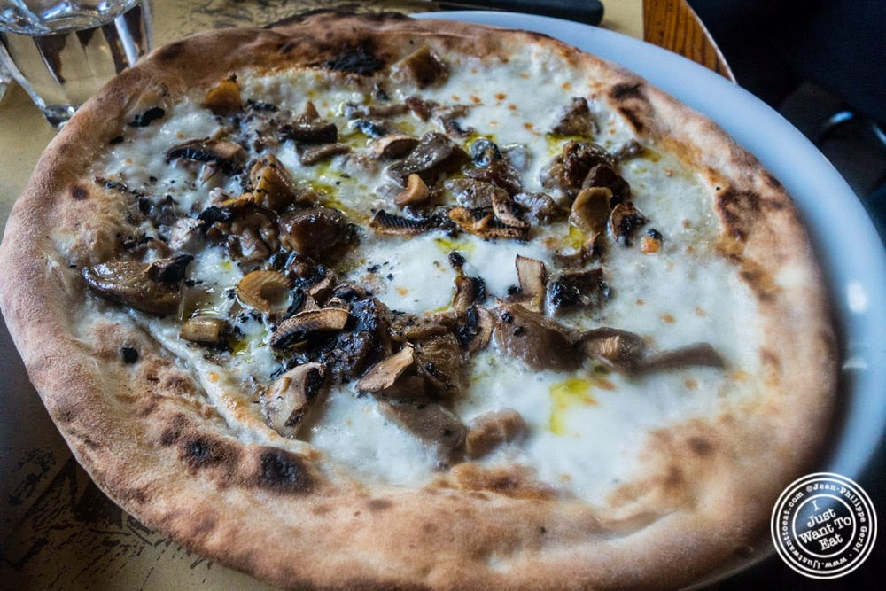 image of white pizza with mushrooms at Borgo Antico in Florence, Italy