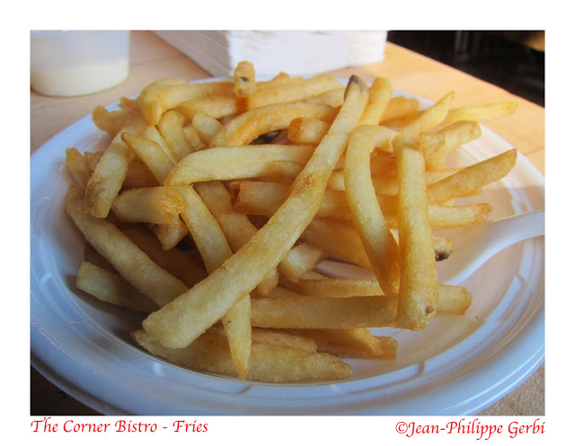 Image of French fries at The Corner Bistro in NYC, New York
