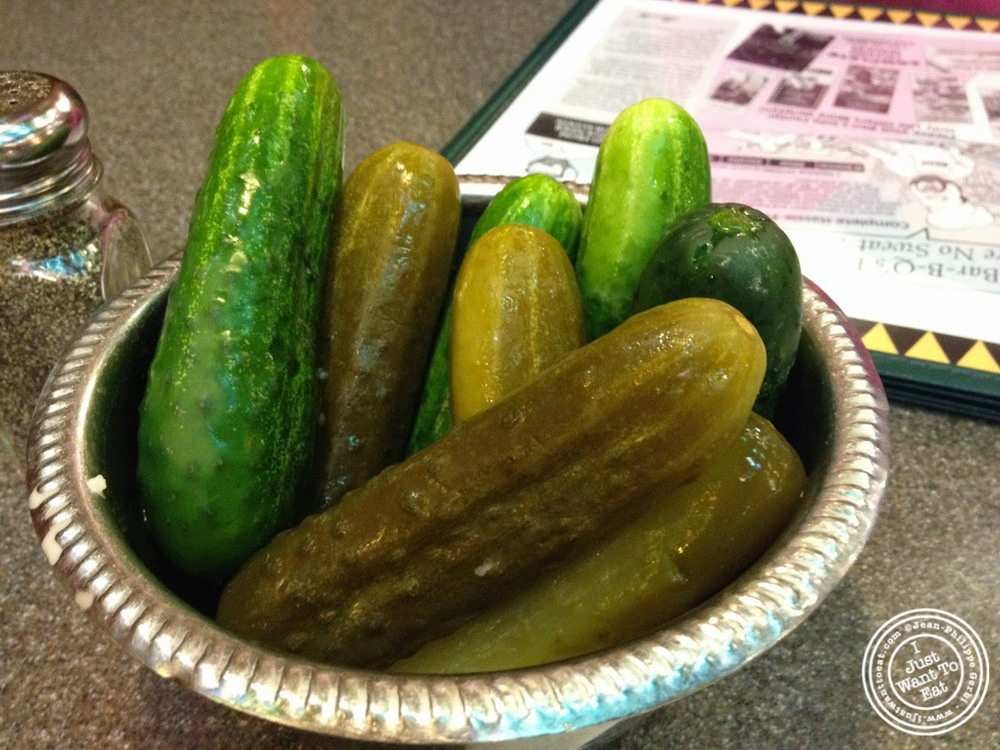 image of pickles at Ben's Kosher Delicatessen in NYC, New York