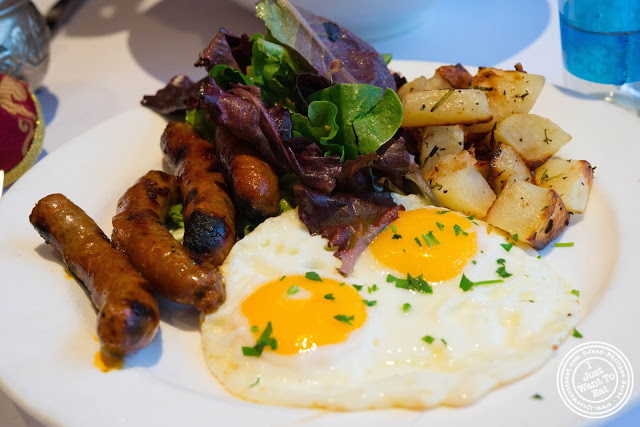 image of eggs and merguez at Barbès in Murray Hill, NYC, New York