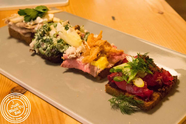 Image of Smørrebrød at Aamanns-Copenhagen in Tribeca, NYC, New York