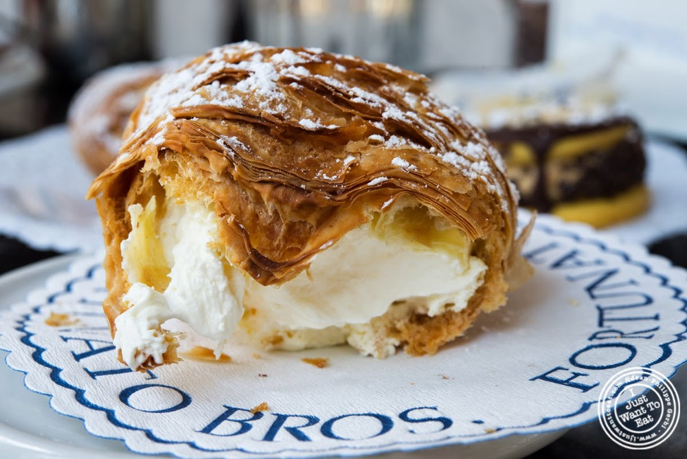 image of lobster tail at Fortunato Brothers, Italian Bakery in Williamburg, Brooklyn, NY